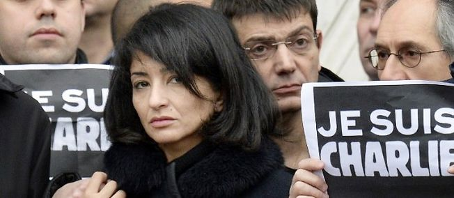 La compagne de Charb Jeannette Bougrab, le 9 janvier 2015 à Paris.
