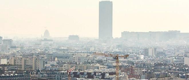 Paris polluée, en avril 2015.