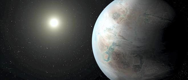 Vision d'artiste de l'exceptionnelle jumelle de la Terre baptisée Kepler 452b.