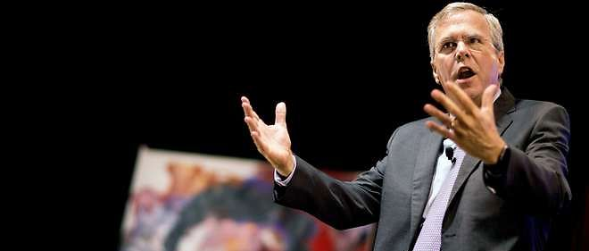 Jeb Bush candidat républicain à la présidentielle américaine, du 8 août 2015.