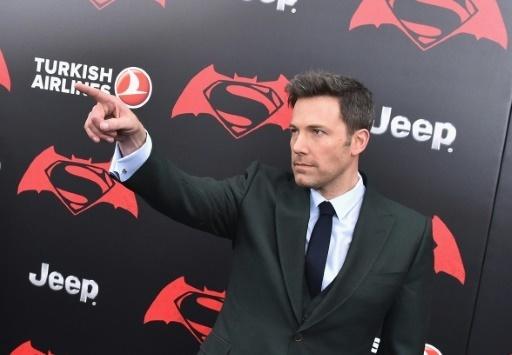 """L'acteur Ben Affleck alors de l'avant-première de """"Batman V Superman"""" à New York le 20 mars 2016"""