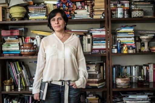 La journaliste mexicaine Daniela Rea chez elle, à Mexico, le 18 avril 2018 © Pedro PARDO AFP/Archives