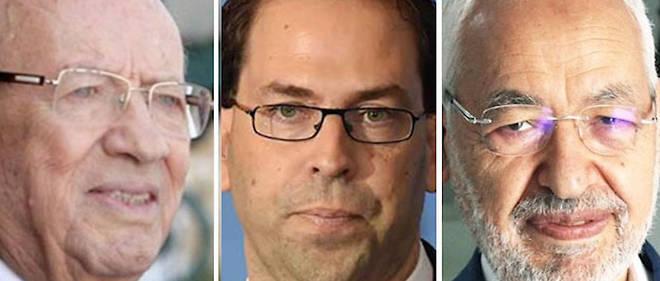 Essebsi, Chahed, Ghannouchi : le trio a la tete de la Tunisie. Le sondage de Sigma remet en cause beaucoup de certitudes.