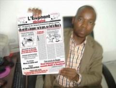 """Assalé Tiémoko, Directeur de Publication de """"L'ELEPHANT DECHAÎNE"""""""