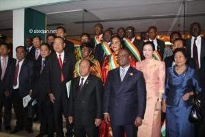 Le Président de l`Assemblée Nationale de Côte d`Ivoire, Son Excellence Guillaume Kigbafori SORO e a recu Son Excellence Samdech Akka Moha Ponhea Chakrei HENG SAMRIN, Président de l`Assemblée Nationale du Royaume du Cambodge dans le cadre de sa visite d`amitié et de travail à Abidjan (Ph: Dr)