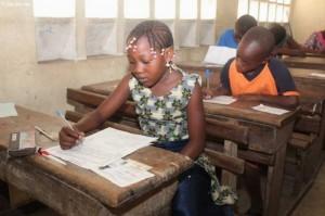 Une vue de quelques élèves à l'examen (Ph: Dr)