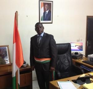 Le maire de la commune de Tiassalé, Silla Soualiho (Ph: Dr)