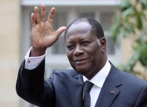 Le Chef de l'Etat ivoirien Alassane Ouattara