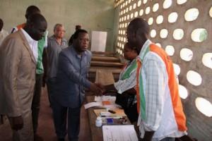 Youssouf Bakayoko, représentant du Parti démocratique de Côte d'Ivoire (PDCI) au sein de la Commission électorale indépendante, a été élu (Ph:Dr)
