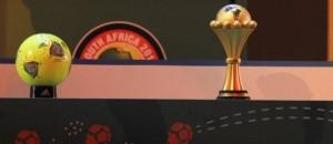 Le trophée de la Coupe d'Afrique des nations. Photo d'illustration. © Alexander Joe / AFP