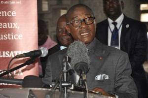 Le ministre de la Justice, des Droits de l'Homme et des Libertés Publiques, Gnénéma Mamadou Coulibaly (Ph :Dr)