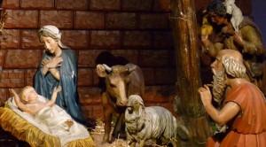 Vue de la crèche où est né Jésus