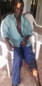 Ici, une victime de la barbarie des braqueurs. (Ph: Dr)