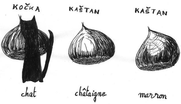 Illustration crée en 2017 pour la publicité de l'atelier de français, école de langue à Prague. Réalisation Michel Lafaye.
