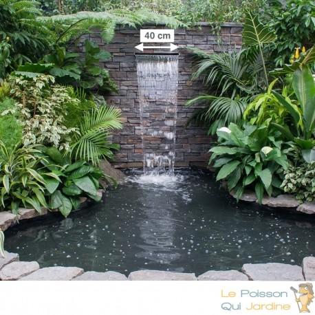 cascade lame d eau 40 cm inox pour bassin de jardin