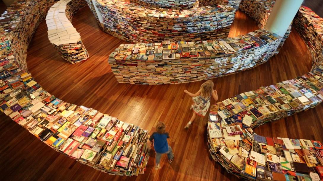 Книжковий лабіринт aMAZEme в Лондоні