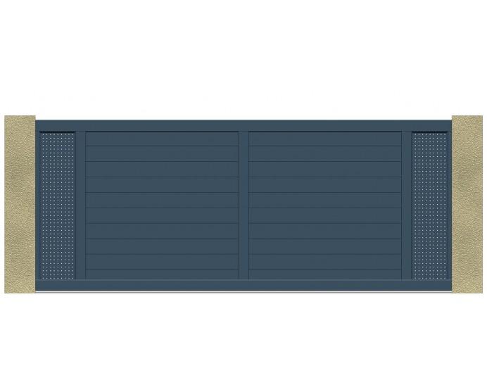 portail coulissant 3m 3 5m 4m 4 5m 5m en tole aluminium perforee leportailalu
