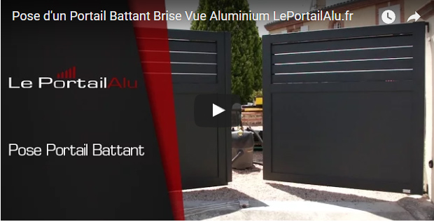 video d installation d un portail battant en alu