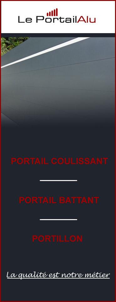 Portail Alu Sur Mesure Couleur Au Choix 100 Francais Le Portail Alu