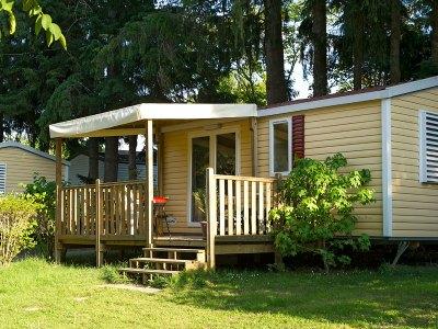 Vermietung der Mobile-homes und  Lodge Zelte