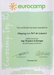 top ten eurocamp 2014