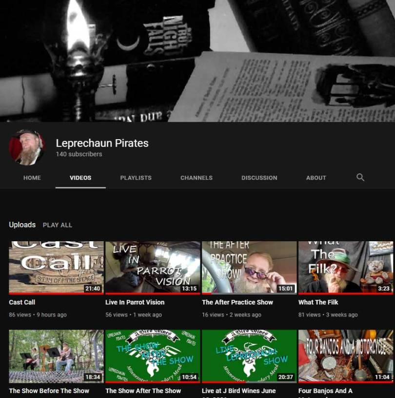 Leprechaun Pirates YouTube Channel