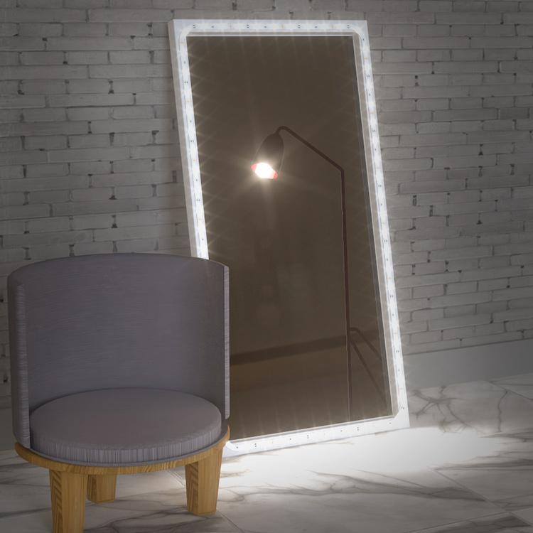 diy vanity mirror with led strip lights