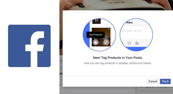 tagguer produits page facebook