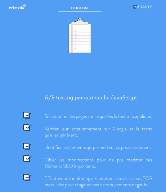 ab testing surcouche javascript seo