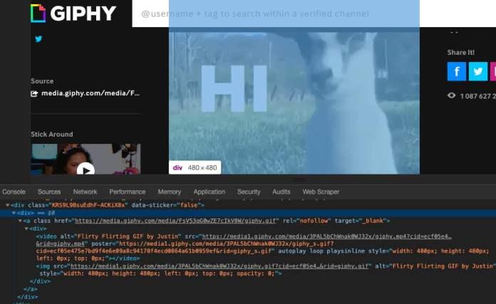 Giphy mp4 gifs integration