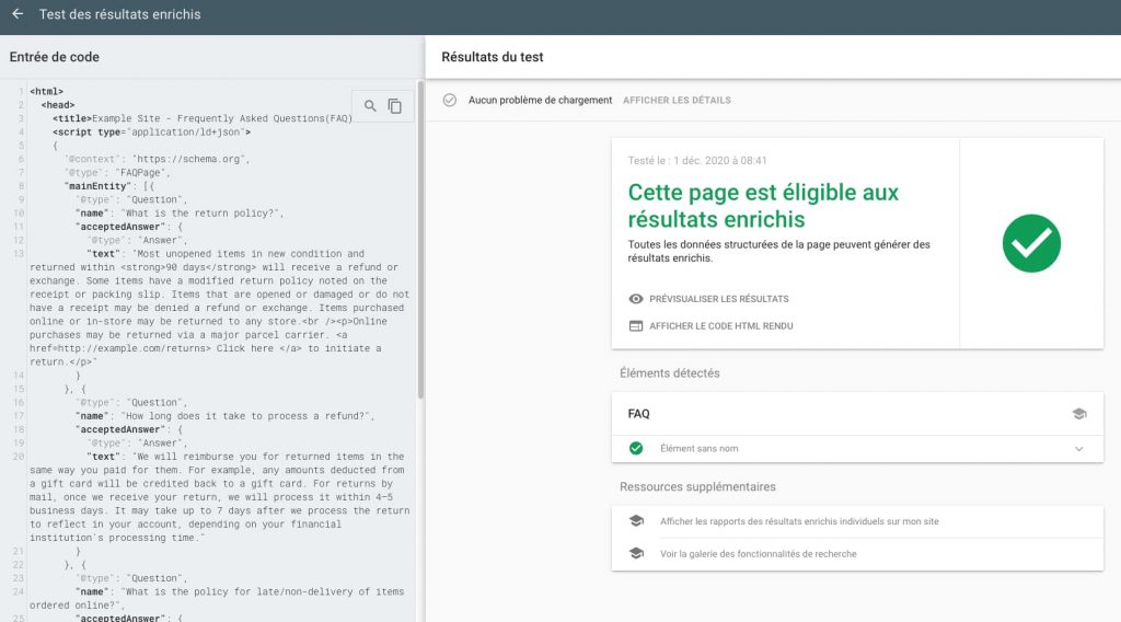 structured data test tool google