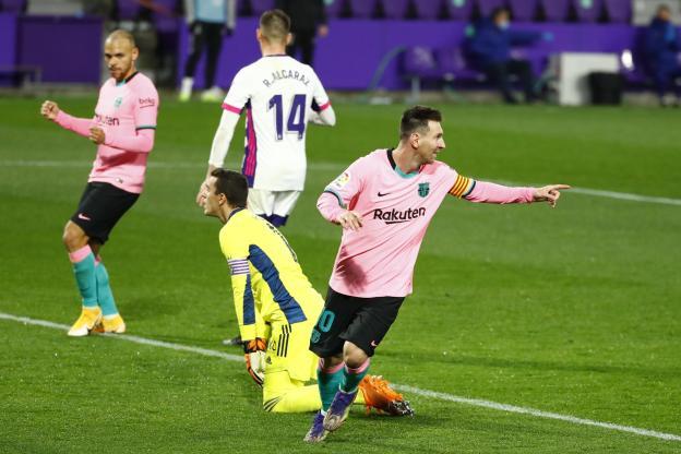 Messi a marqué 644 buts avec le Barça.  (J. Medina/Reuters)