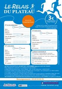 Course 10 Kms : Bulletin d'Inscription