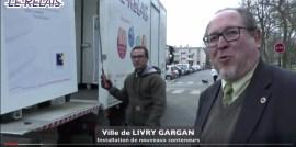 Livry-Gargan : pose de nouveaux conteneurs