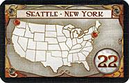 Votre mission si vous l'acceptiez rejoindre Seattle à New York pour 22 points.