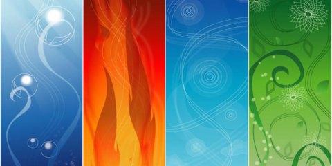 Les quatre éléments feu terre air eau