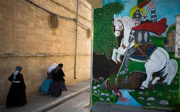Saint-Georges et le Dragon à Al Qosh