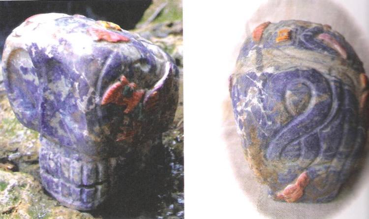 Crâne de cristal du Pérou avec son lemniscate