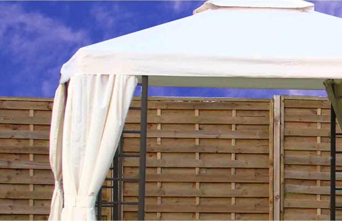 toile de toit pour tonnelle t08 3 x 3 m ecrue