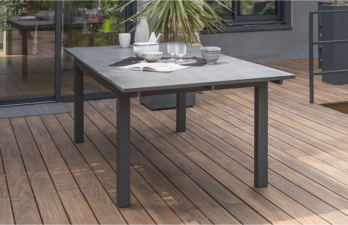 table de jardin extensible en aluminium et verre pour 8 personnes dcb garden miami