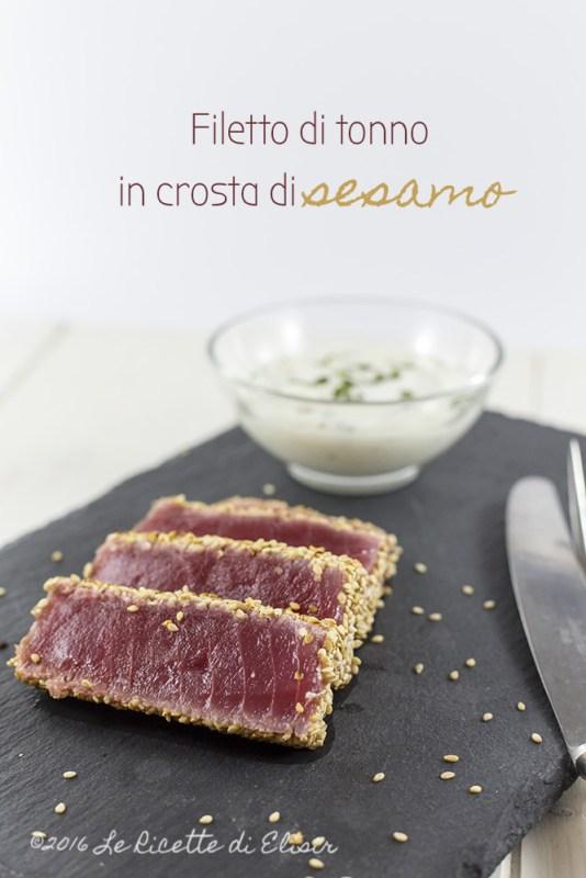 filetto di tonno 1 - Filetto di tonno in crosta di sesamo