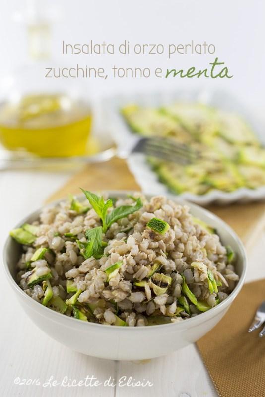 insalata di orzo perlato zucchine
