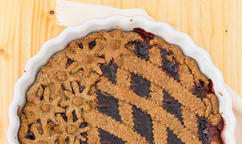 Crostata integrale alle visciole
