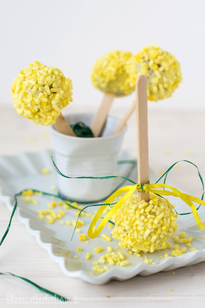 Cake pops mimosa le ricette di elisir
