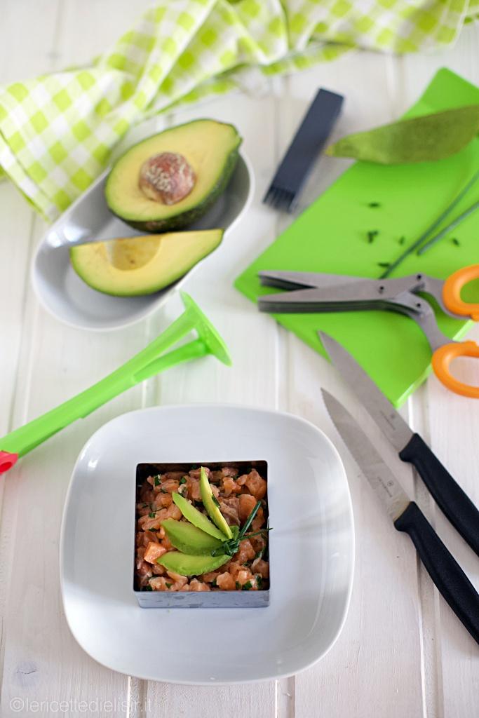 tartare di salmone e avocado - Tartare di salmone e avocado