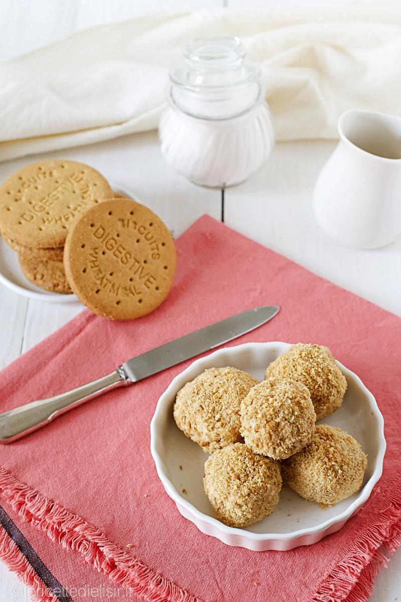 Tartufini cheesecake senza cottura le ricette di elisir