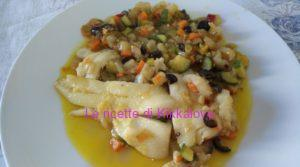 HALIBUT IN GUAZZETTO CON VERDURE