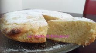 torta all'arancia vegan in padella