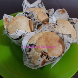 Muffin vegan banana e mirtilli