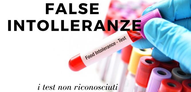FALSE INTOLLERANZE